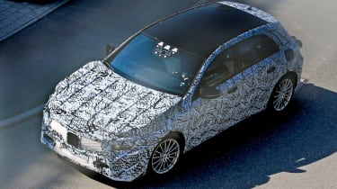 Mercedes A-Class spy shot - front/side