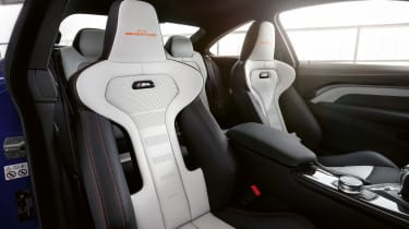 BMW M4 M Heritage Edition - white seat