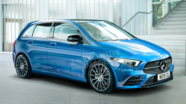 New 2019 Mercedes B-Class - front (watermarked)
