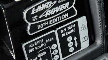 Land Rover Defender Works V8 - interior detail