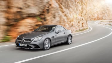 Mercedes SLC roadster - on the road