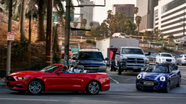 Ford Mustang and MINI hit the streets