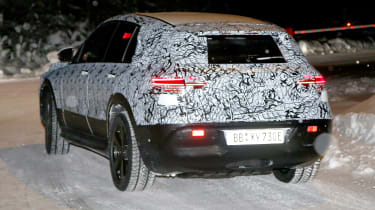 Mercedes EQ C spied back