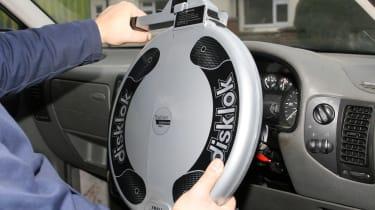 Steering wheel locks - header