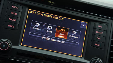 Driving modes let you tweak the car's settings, depending on what kind of driving you want to do.