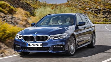 New BMW 5 Series Touring - front tracking