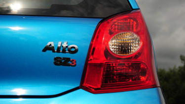 The Alto's engine is a 1.0-litre three-cylinder unit with predictably pedestrian performance.