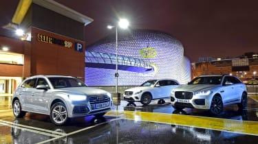 Audi Q5 vs Jaguar F-Pace vs Mercedes GLC - header