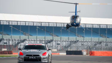 Nissan GTR/C - helicopter