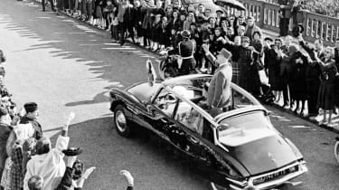 After proving a hit with the public, the DS soon gained the presidential seal of approval from Charles de Gaulle.  In fact, the French leader owes his life to the big Citroen, after it played a big part in foiling an assassination a