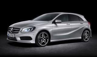 New Mercedes A-Class front three-quarters