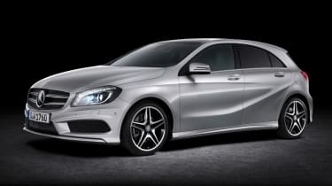 New Mercedes A-Class front three-quarters