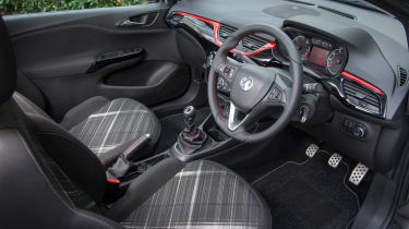 The Corsavan cabin from the front seats forward is lifted straight from the supermini version.