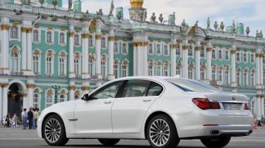 BMW 750i rear three-quarters