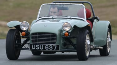 Caterham Seven road trip - front end action