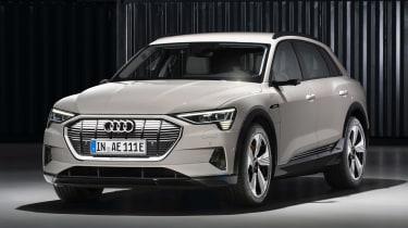 Audi e-tron - white front