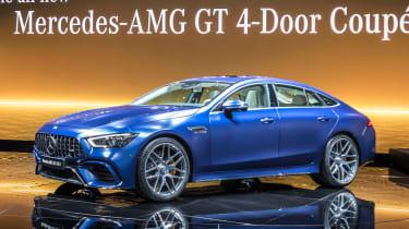 Mercedes-AMG GT four-door - Geneva front/side