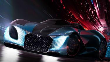 DS X E-Tense concept - front