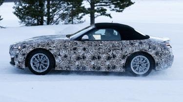 BMW Z4 spy shot side