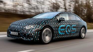 Mercedes EQS prototype - front