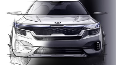 Kia small SUV - front teaser