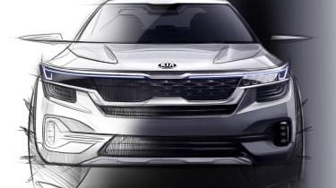 Kia small SUV - front teaser