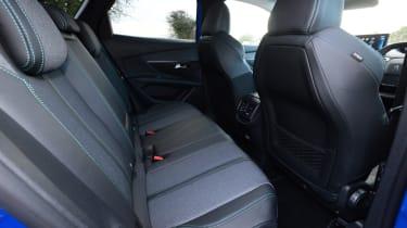 New Peugeot 3008 facelift 2020 rear seatds