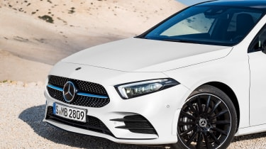 New Mercedes A-Class - white front detail