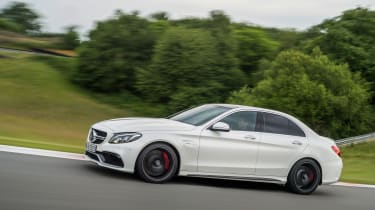 Mercedes-AMG C63 S action