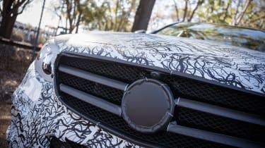 Mercedes E-Class development car grille