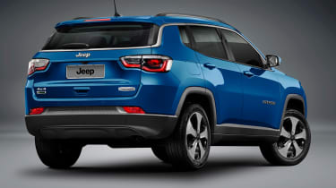 Jeep Compass 2017 - studio blue rear quarter