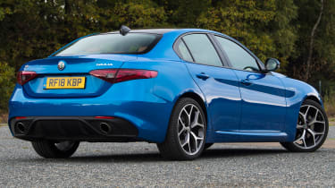 alfa romeo giulia long termer static rear