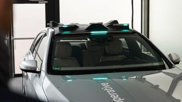 Mercedes Co-operative car - sensors