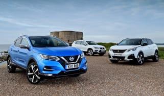 Nissan Qashqai vs SEAT Ateca vs Peugeot 3008