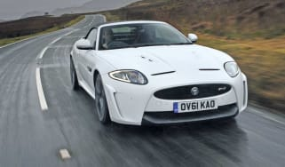 Jaguar XKR-S Convertible front tracking