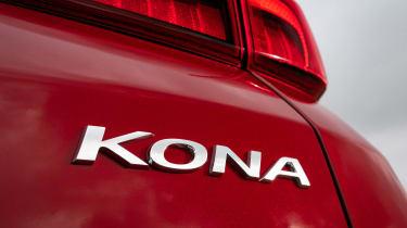 New Hyundai Kona Hybrid 2021 review - badge
