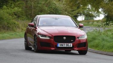 Jaguar XE S - front action