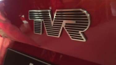 TVR Griffith reveal - TVR badge