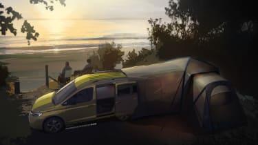 VW Caddy California - camping