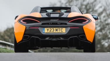 Mclaren 570s review - exhaust rear