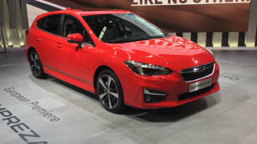 2018 Subaru Impreza Frankfurt - front quarter