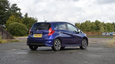 Nissan Note blue rear quarter