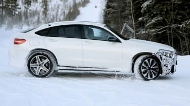 Mercedes AMG GLC 63 coupe spy shot