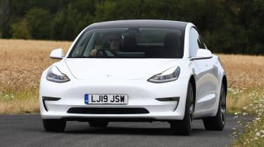 Tesla Model 3 - front cornering