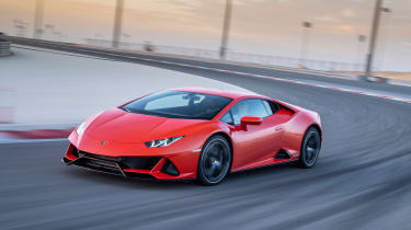 Lamborghini Huracan Evo - front track