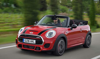 MINI John Cooper Works Convertible UK 2016 - front tracking
