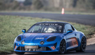 Alpine A110 Cup driving front