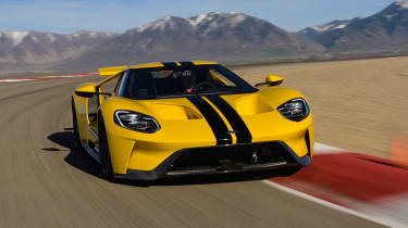 Ford GT - track front action