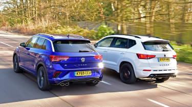 Volkswagen T-Roc R vs Cupra Ateca - rear