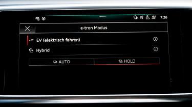 Audi A7 Sportback 55 TFSI e - infotainment